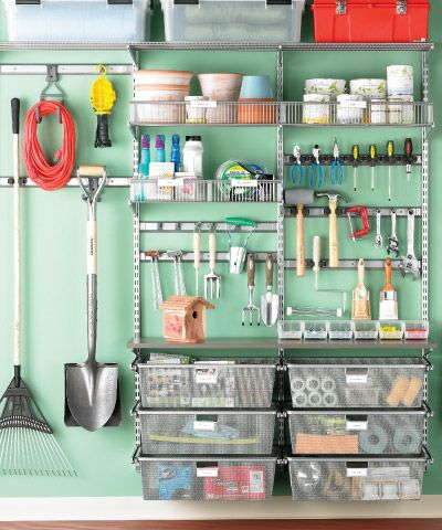 It's getting warmer- time to clean and organize the garage. Great inspiration here! #organize #garage #tips