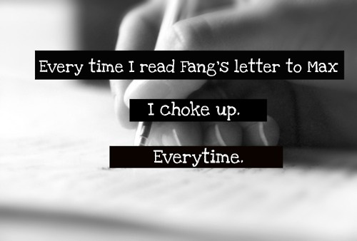 And I start shaking and running around my room until I calm down . . . then repeat when I keep reading