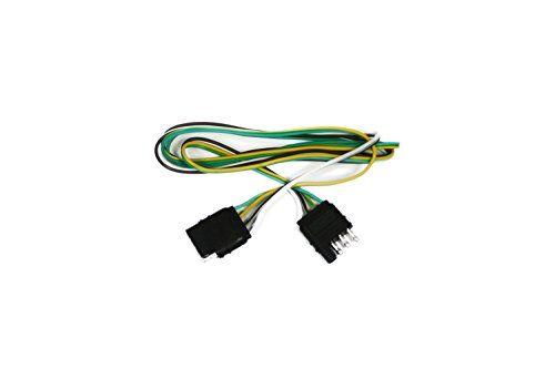 ABN 4 Way 4 Pin Plug Flat 20 Gauge Trailer Light Wiring Harness Extension 10ft