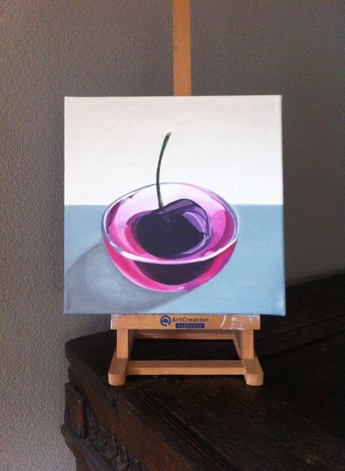 Acryl on canvas 30/30 cm For Sale