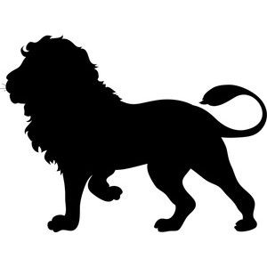 Free Silhouette Clip Art Image - Silhouette of a Lion, The ...