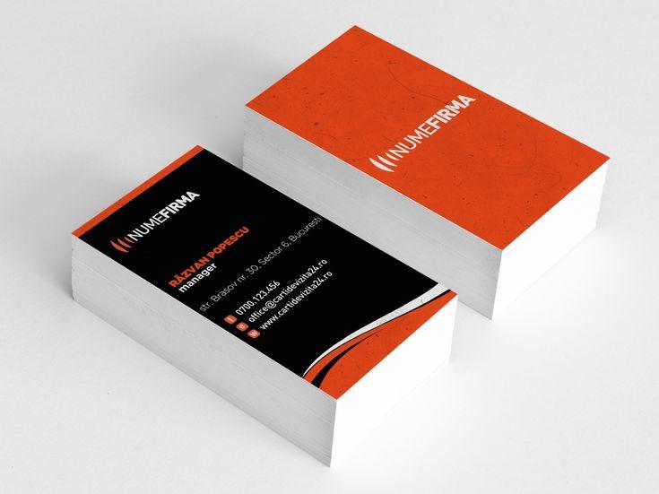 "Model carti de vizita ""Orange Wave"""
