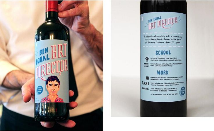 Une bouteille de vin comme CV ... pour un entretien d'embauche très chaleureux!