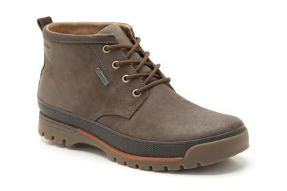 Mens Casual Boots in Dark Brown Nubuck - Narly Hill GTX from Clarks shoes