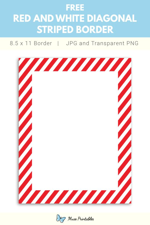Red And White Diagonal Striped Border Red And White Diagonal Stripes Borders For Paper