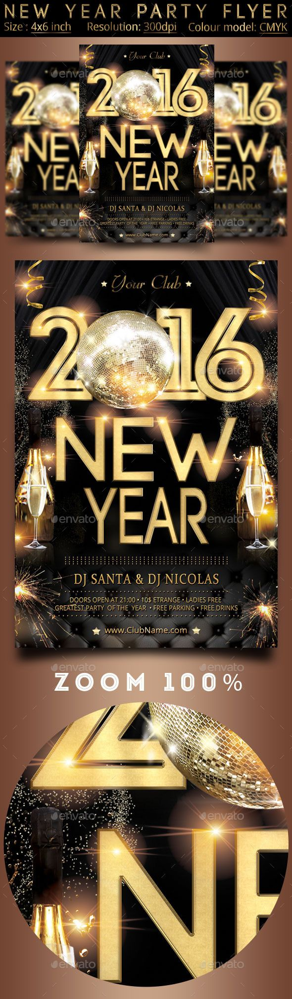 New Year Party Flyer Template #design Download: http://graphicriver.net/item/new-year-party-flyer/12755791?ref=ksioks