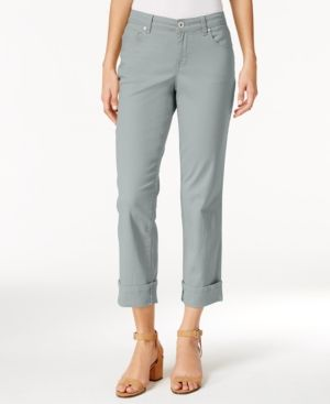 Style & Co Curvy Cuffed Capri Jeans, Only at Macy's - Gray 16
