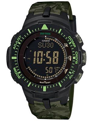 Casio ProTrek Solar Atomic Version 3 Triple Sensor - Green Camo Printed Strap