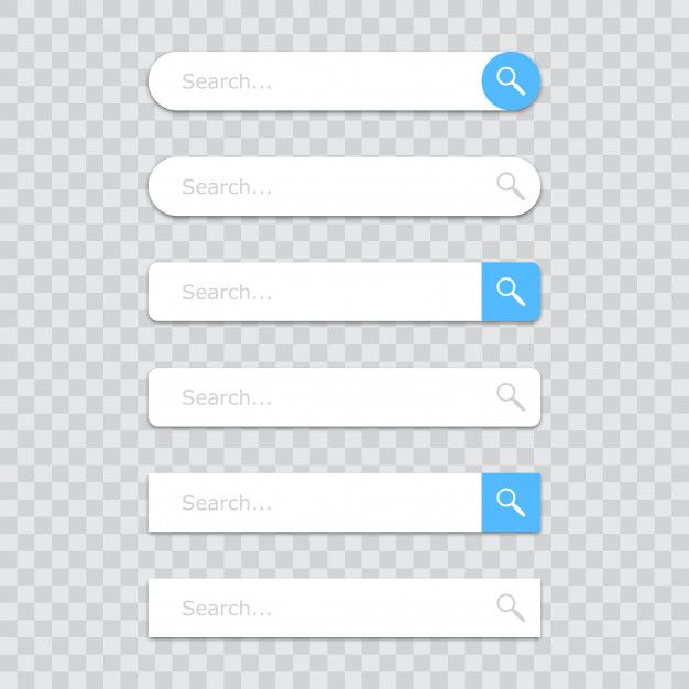Set Of Search Bar Icons Powerpoint Background Design Icon Aesthetic Template