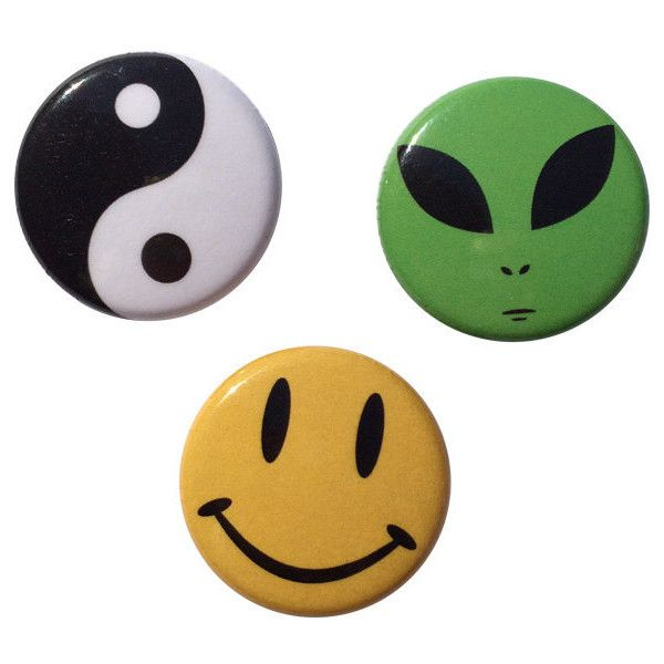 90's Alien Yin Yang Smiley Face Pin Pack ($4) ❤ liked on Polyvore featuring jewelry, brooches, fillers, accessories, pins, buttons, button jewelry, denim jewelry, pin brooch и pin jewelry