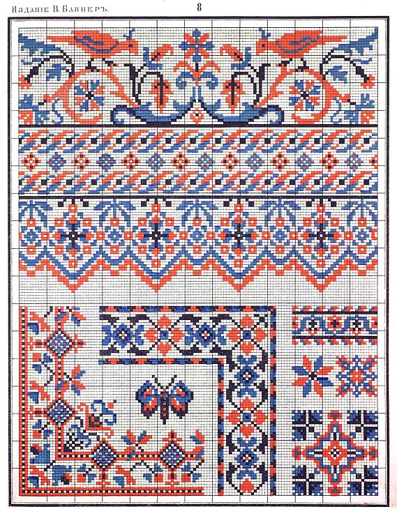 Traditional Russian (18th century) embroidery pattern