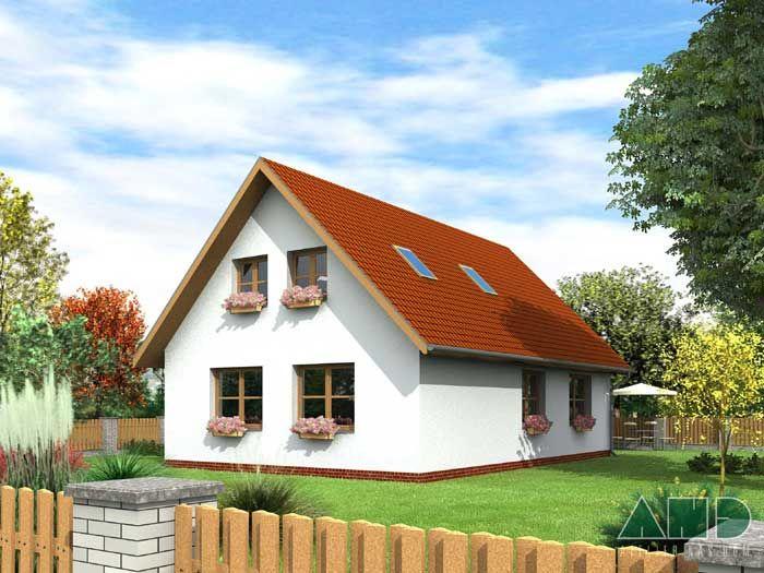 Projekty rodinných domů: Františka 2.01 - typové projekty rodinných domů - Nízkoenergetické domy | NewLiving.cz
