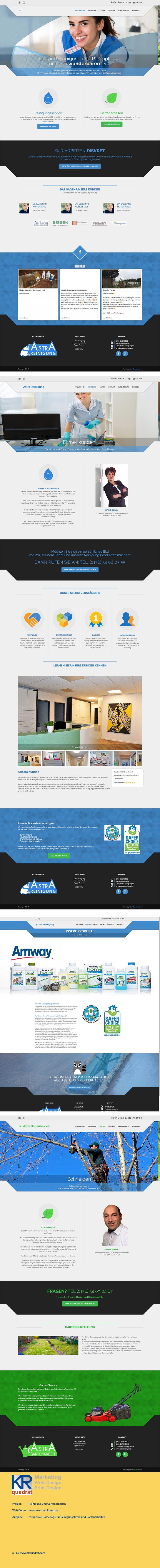 responsive Homepage Reinigungsfirma und Gartenarbeiten. www.astra-reinigung.de