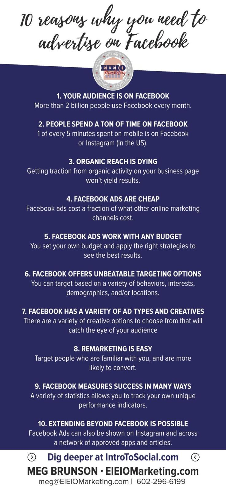 Follow up with this blog post! Top 20 Most Often Missed Facebook Advertising Best Practices - EIEIOMarketing.com