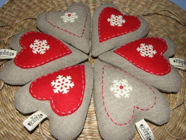 Serduszka Jolinki  #heart #serduszko #serce #christmas #ornament #jolinka