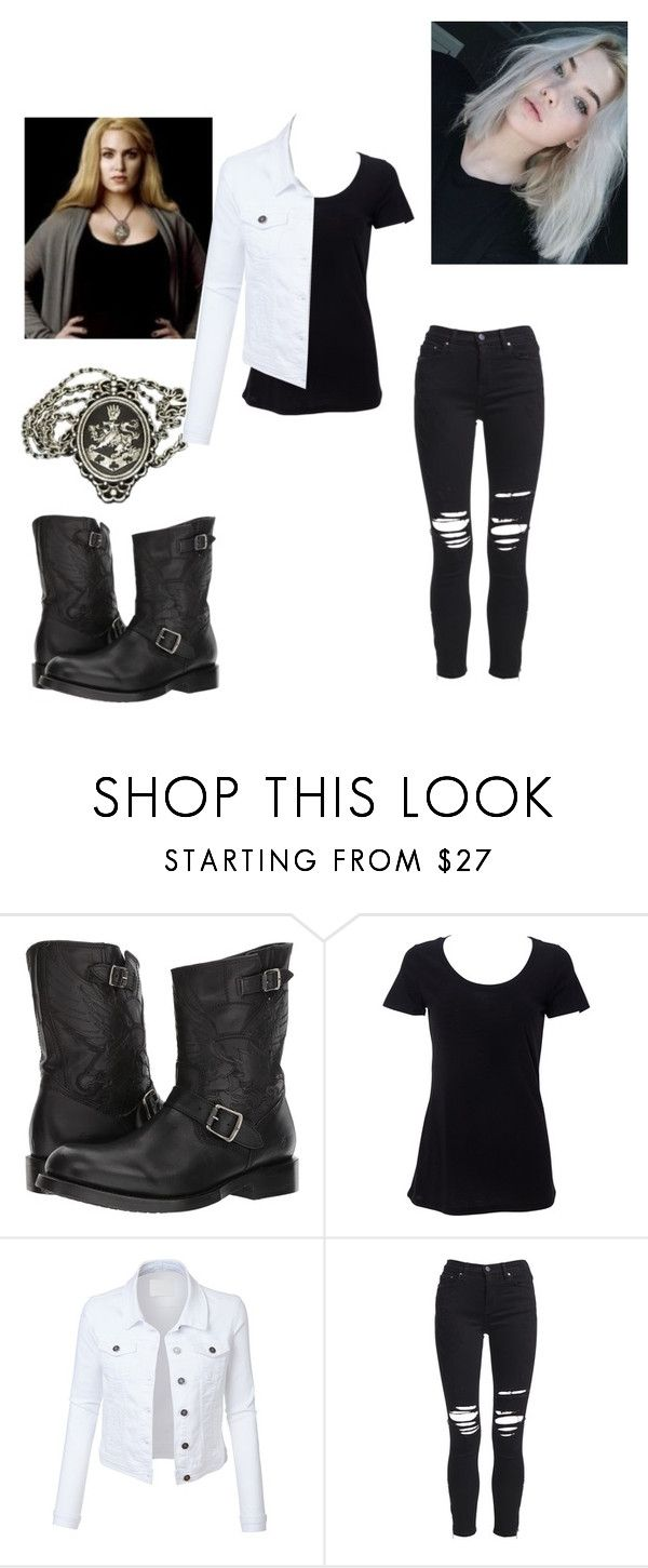 """""""Rosalie Cullen Hale"""" by littemissdrama ❤ liked on Polyvore featuring Frye, Simplex Apparel, LE3NO and AMIRI"""