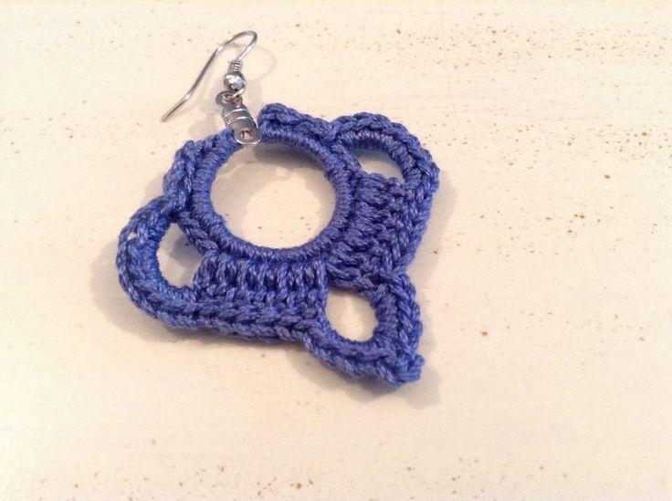 Pendientes tejidos a crochet
