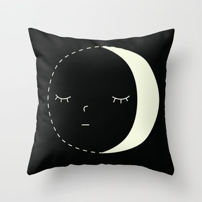 Moon Throw Pillow by Alysha Dawn - $20.00