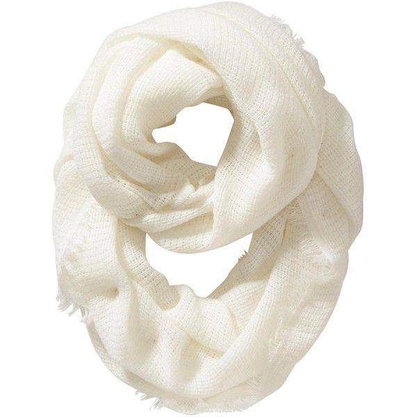 Old Navy Womens Lightweight Sweater Infinity Scarf ($16) ❤ liked on Polyvore featuring accessories, scarves, white, tube scarf, white infinity scarf, lightweight scarves, infinity loop scarf and infinity scarf