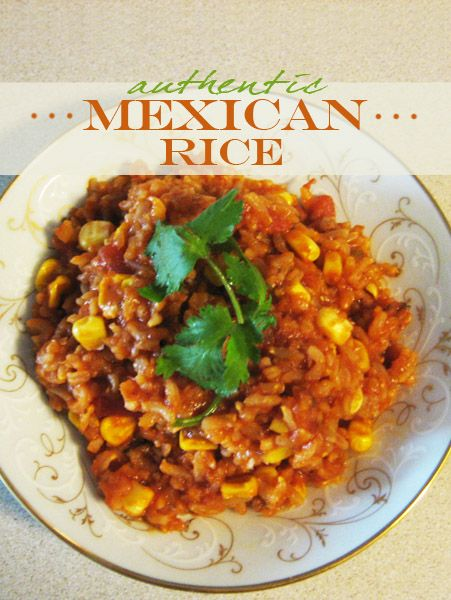 Mexican Rice recipe. Easy to make, delicious, and from scratch.