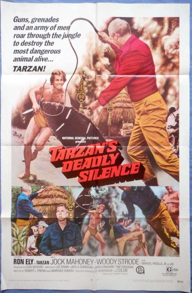 TARZAN'S DEADLY SILENCE MOVIE POSTER Ron Ely Edgar Rice Burroughs 1970 1sht