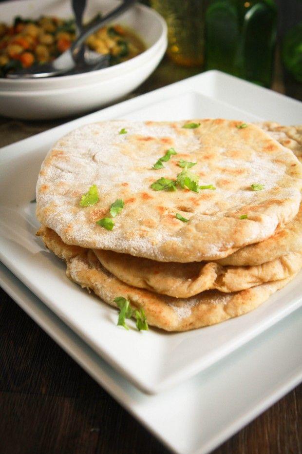 whole wheat naan...Healthy Indian Recipes, Vegan Homemade, Breads, Homemade Naan Recipe Wheat, Easy Recipes, Wheat Indian, Wheat Naan, Cheeky Kitchens, Indian Naan
