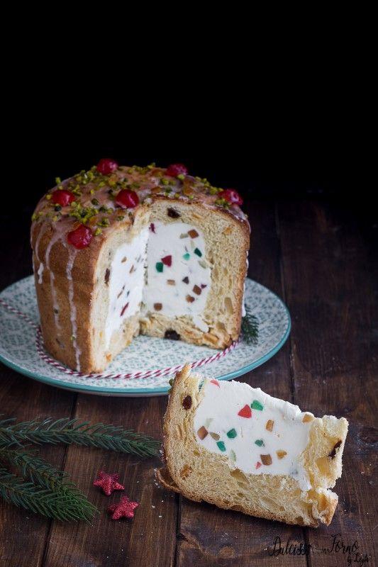 Panettone farcito con crema al mascarpone e ricotta – dolce di Natale veloce ricetta Dulcisss in forno by Leyla