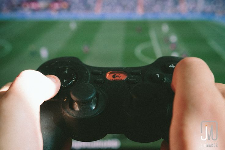 Playing some football with a gamepad. Miss those times when we spent the entire day on video games.