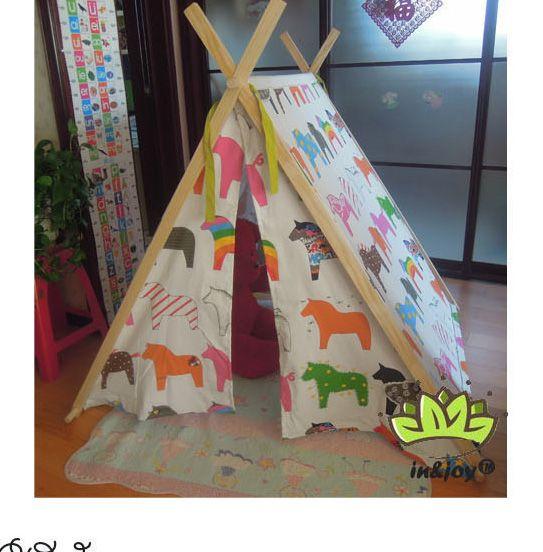 Goedkope kinderen dag gift paard patroon Indische doek wigwam kinderen…