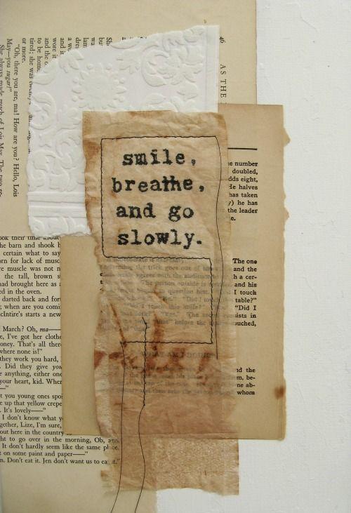 ancagray:  go slowly. mixed media collage. anca gray. 2012.