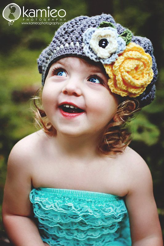 Adorable crocheted hat!