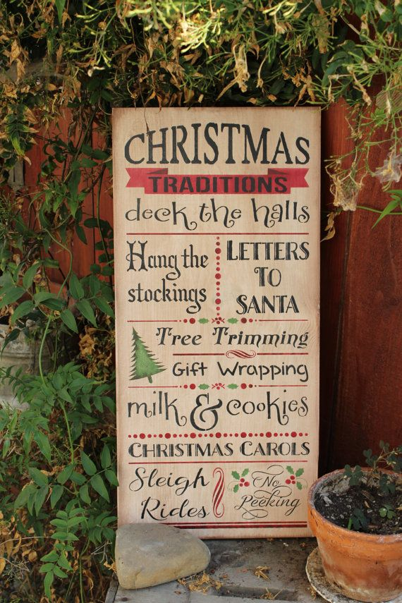 Christmas Traditions Wooden Subway Sign By CraftedbyGale On Etsy
