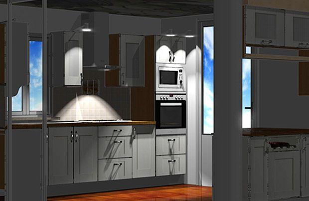 Wizualizacja mebli kuchennych.