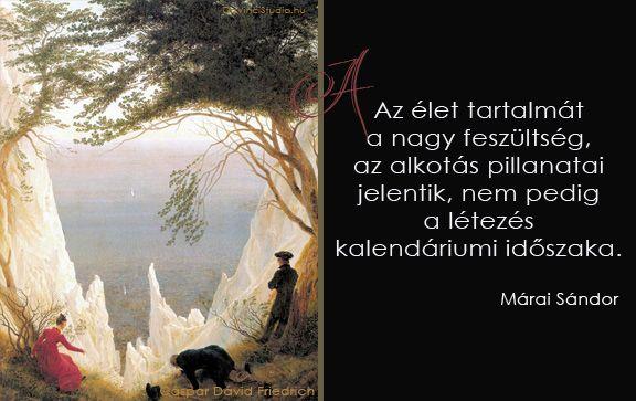 Márai idézet az alkotásról