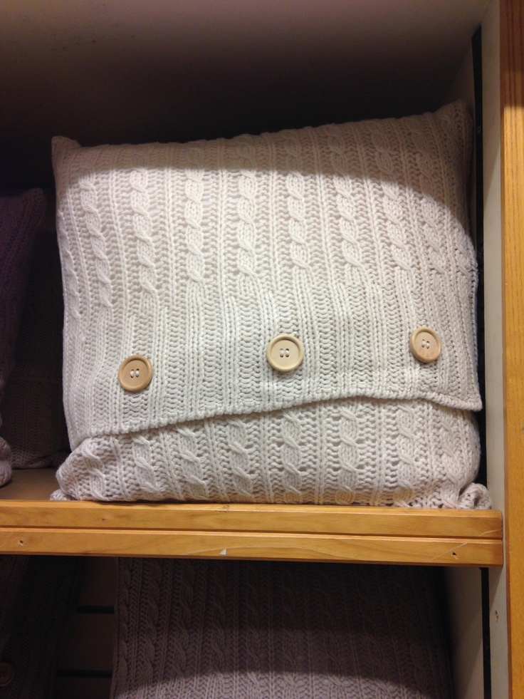 Cable knit cushion from Elys, Wimbledon. Recreating my own version at present.