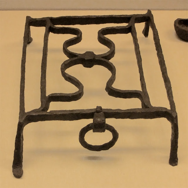 A Late Roman (4th century) grid iron used for cooking over coals. British Museum. Photo by Lovely Greens.