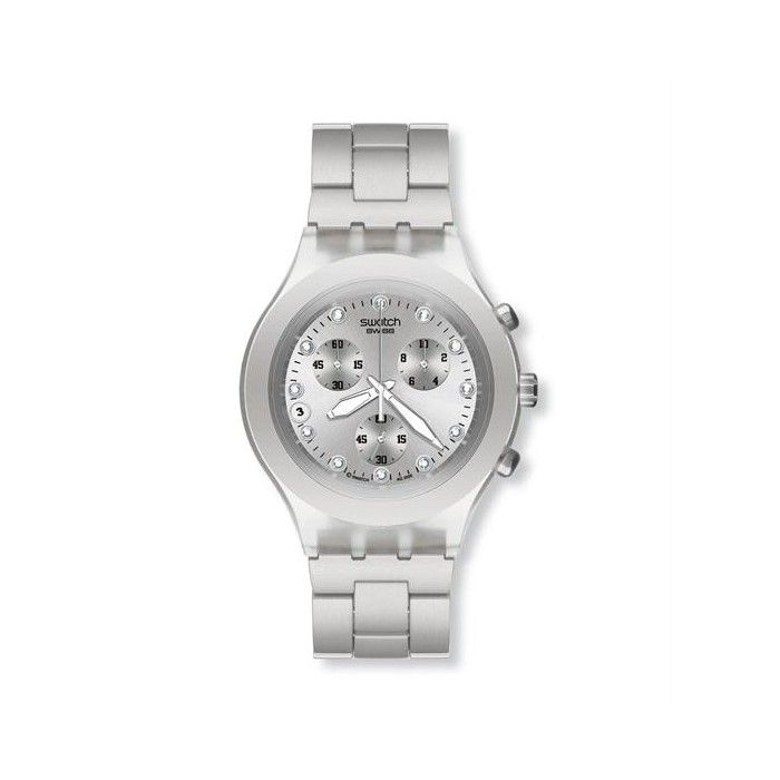 895749fdbee Relógio Swatch Irony Diaphane Full-Blooded Silver - SVCK4038G ...
