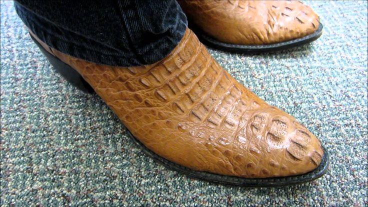 Head Cut Caiman Crocodile Boots