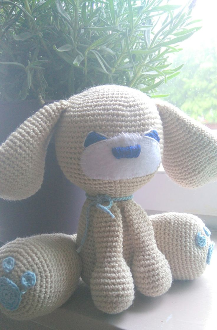 crochet handmade toy, puppy, amigurumi by CrochetByJADEGoods on Etsy