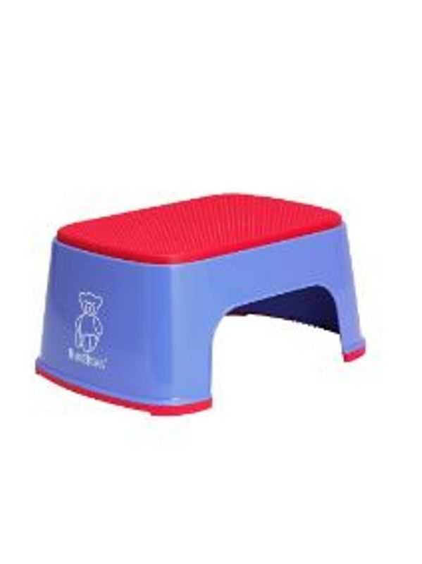 BabyBjorn Safe Step Ocean Blue Colourful   Step for your toddler to reach toilet or basen . Also fun to use anywhere in the house including playtime. Non-slip rubber   mat on top keeps the child safely standing even with wet feet. The rubber strip keeps the step securely on the floor. Easy to keep clean, the step is easily rinsed off under running water. Available in various funky colours.