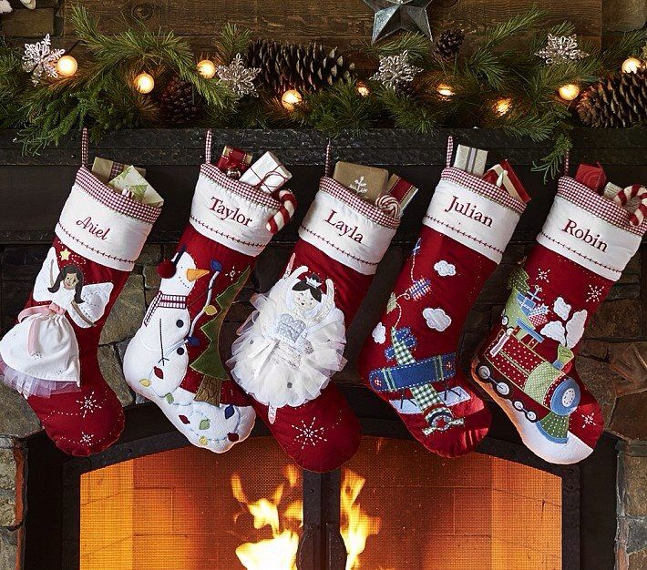 Red And White Christmas Stockings Personalized