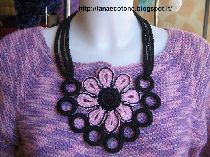 Lana e Cotone (maglia e uncinetto): Collane con la caterinetta