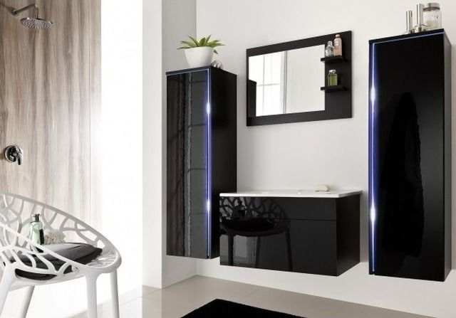 Czarne meble łazienkowe. Meble Dream - Shine