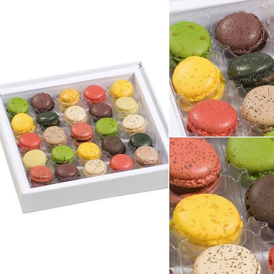 Richart's Mini Macarons: Made in France, the 25-piece box of Richart's Parisian Mini Macarons ($45) features bright flavors like black currant, blood orange-lemon, almond-apricot, and grapefruit-rose.
