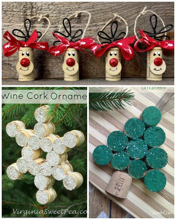 Wine Cork Christmas Craft Ideas - Crafty Morning
