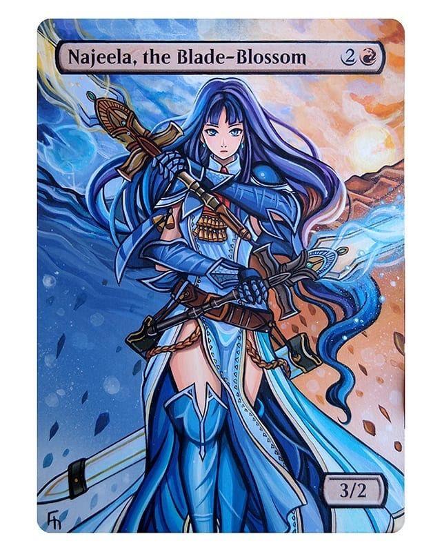 Najeela The Blade Blossom Magic The Gathering Cards Card Art Magic The Gathering