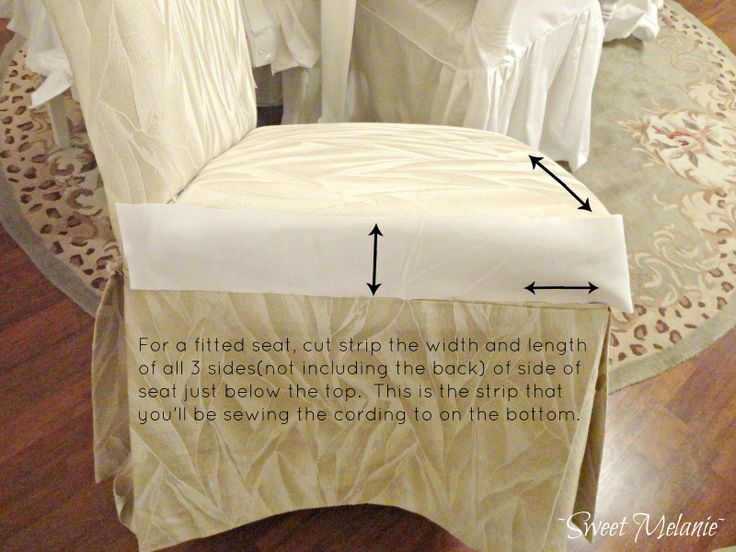 Sweet Melanie How To Make A Dining Chair Slipcover