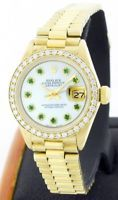 Rolex Lady Datejust 6917 18K Gold 26mm Emerald Dial/Diamond Bezel - Pre-Owned