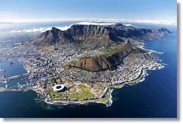 Kapstadt Tafelberg mit Blick zum Kap der Guten Hoffnung