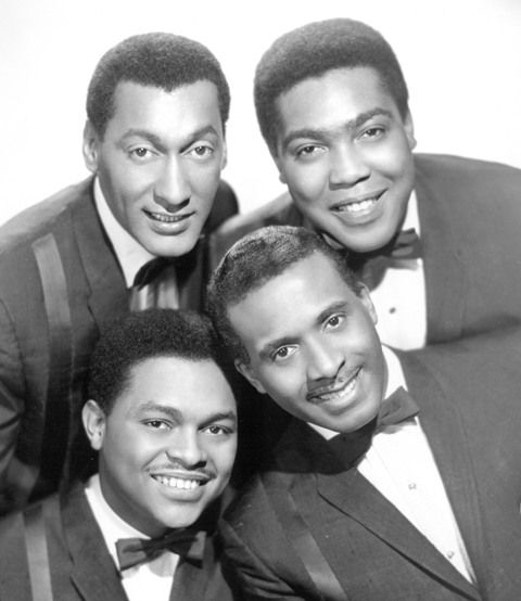 """The Four Tops were a Motown vocal quartet founded in Detroit, MI as The Four Aims. Lead singer, Levi Stubbs (born Levi Stubbles, bottom right), Abdul """"Duke"""" Fakir (top left), Renaldo """"Obie"""" Benson (bottom left) and Lawrence Payton (top right) performed together for over four decades from 1953-97. Levi Stubbs, Obie Benson and Lawrence Payton are all buried in Woodlawn Cemetery in Detroit, MI."""